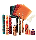 Beeswax Candle Rolling Kit with Decorating Ideas, in Bright Colors