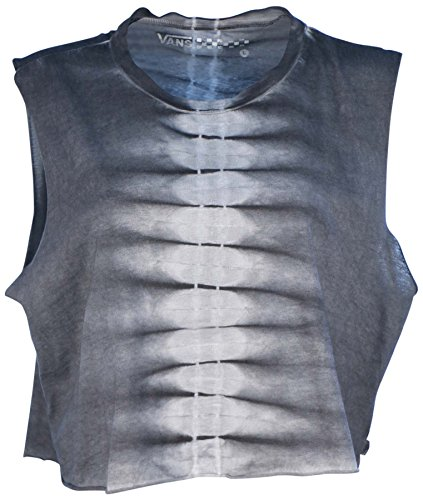 Vans Women's Skinny Bones Cropped Muscle Tank Top-Metal Gray-XL (Grunge Tie Dye compare prices)