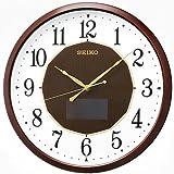 SEIKO CLOCK (セイコークロック) ハイブリッドソーラー電波掛時計(茶) SF241B
