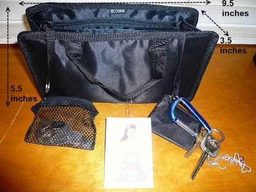 $ 13.99 FREE SHIP USA NEW BLACK Hand BAG Organizer/purse/tote Insert Organizer -A Must for All Bags. Switch Bags in Seconds!