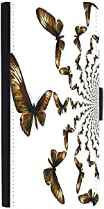 Snoogg Kaleidoscopic Butterfliesdesigner Protective Flip Case Cover For Redmi...