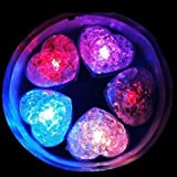 Light Heart Ice Cube Glow Party Wedding Rave Baby Shower Quince Multi Color 10pc