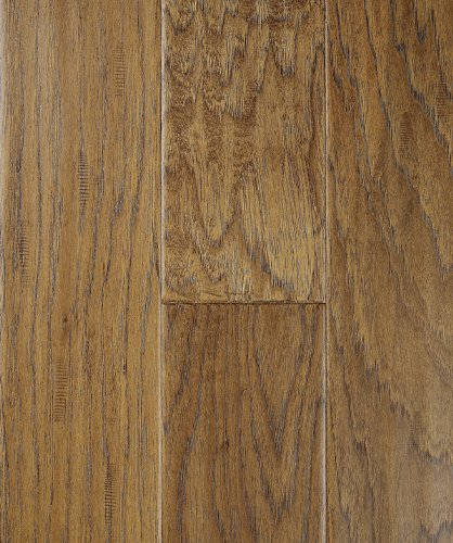 Max Windsor Floors TLEHY0709 5 Handscraped Engineered Hardwood, Golden  Hickory Max TLEHY0709 5
