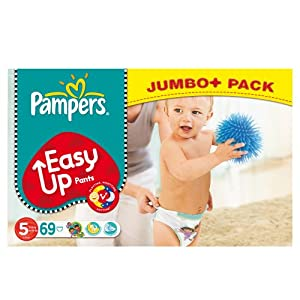 Pampers Easy Ups Size 5 (Junior) Mega Pack - 69 Nappies