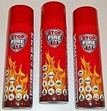 3er Set Stop Fire 500 Feuerlöschspray (Feuerlöscher) (auch für Fettbrände, 3x500g netto) Reinold Max