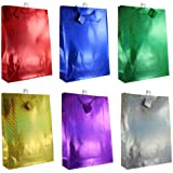 Hologram Gift Bags, 12-pc, All Occasions, Assorted Colors (X-Large)