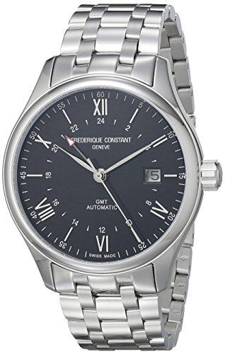 Frederique Constant Geneve Classics Index GMT Reloj Automático para hombres Segundo Huso Horario