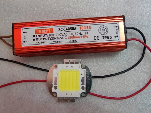 E-Age 50W Led Driver+50W Warm White Led Chip Dc 25-36V Ip65 Waterproof Led Driver Power Supply 10 Series 5 Parallel