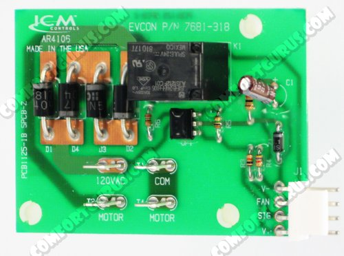 Coleman Source 1 Evcon Blend Air Upper Control Board with Wiring Adapter (# S1-7681-318P/A)