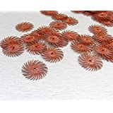 """3M RADIAL BRISTLE DISCS 220 GRIT RED 3M MINI RADIAL BRUSHES 3/4"""" Pack of 12 (E1)"""