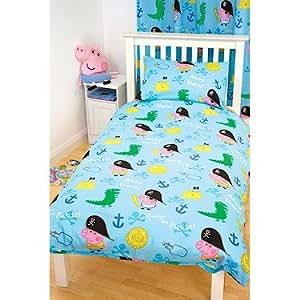 peppa pig parure de lit george housse de couette. Black Bedroom Furniture Sets. Home Design Ideas