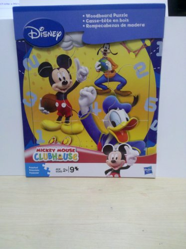 Cheap Hasbro Disney Mickey Mouse Clubhouse Woodboard Puzzle- Mickey and Friends 9 Piece Puzzle (B004S669RA)