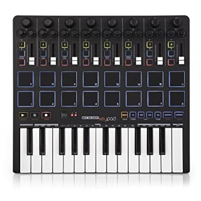 Reloop Keypad Compact USB MIDI Keyboard with DAW Control and Drum Pads from American Music and Sound