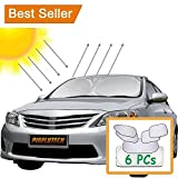 PigflyTech® SIX Pics PopUp Sun Protector with Premium Baby Car Window Shades