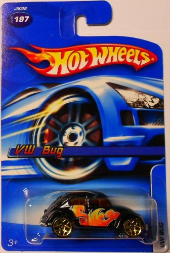 Mattel Hot Wheels 2006 1:64 Scale Black VW Bug Die Cast Car #197 - 1