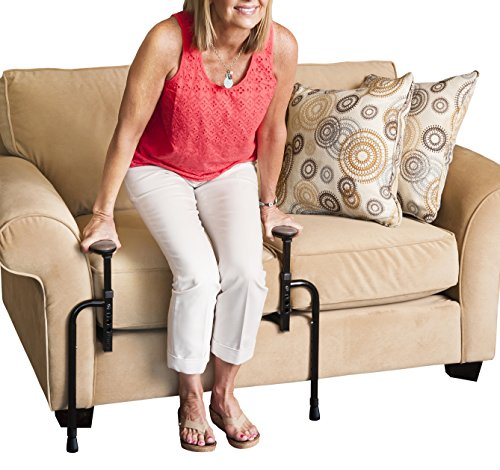 Stander EZ Stand-N-Go - Ergonomic Support Handles and Adjustable Standing Mobility Aid for Couch Chair or Recliner 8.5 Pounds + Lifetime Guarantee