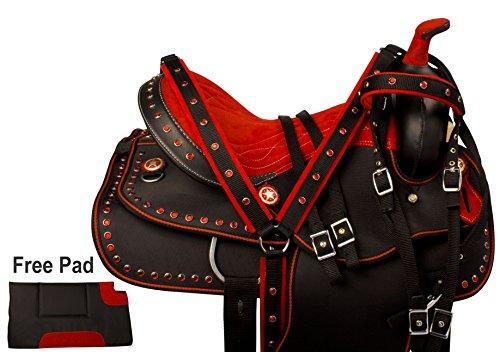 red-crystal-western-pleasure-trail-barrel-racing-show-horse-saddle-free-tack-set-pad-14-15-16-17-16