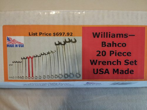 Williams Bacho 20 Piece Wrench Set Made In Usa