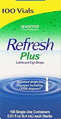 Allergan Refresh Plus Lubricant Eye Drops Single-Use Vials - 100 ct