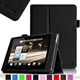 Fintie Folio Case for Acer Iconia A1-810 7.9 -Inch Tablet Slim Fit With Stylus Holder - Black