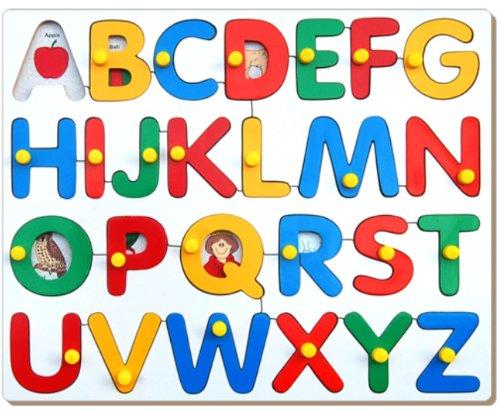 Little Genius Little Genius Alphabets Picture Tray with Knob