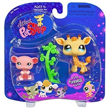 Littlest Pet Shop Pet Pairs Giraffe and Mouse by Hasbro