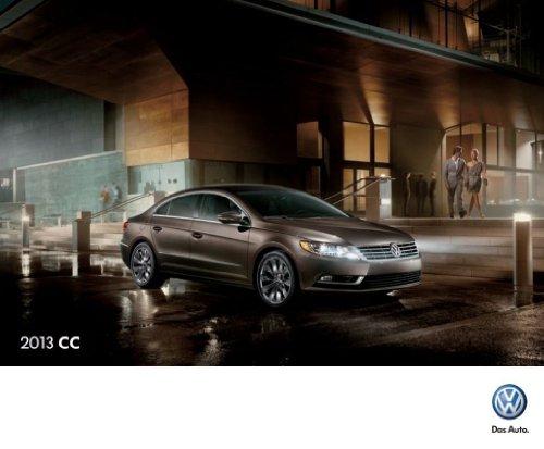 2013 Volkswagen Cc 20-Page Sales Brochure Catalog - Vw Car