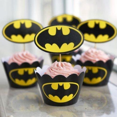 Batman et caissettes pour cupcake x 12Fête Motif cupcakes