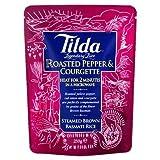 Tilda Steamed Brown Basmati Rice Roasted Pepper & Courgette (250g)