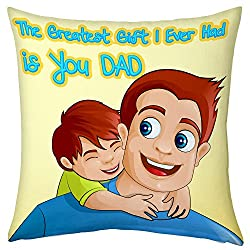Greatest Gift Dad Cushion For Dad Papa Birthday Anniversary