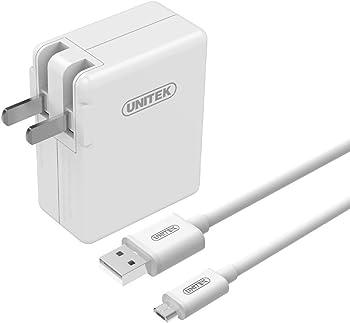 Unitek 24W 3-Port USB Wall Charger