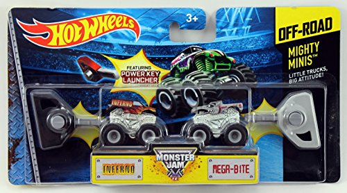 Hot Wheels Monster Jam Mighty Minis Off-Road - Inferno & Mega-Bite - 1