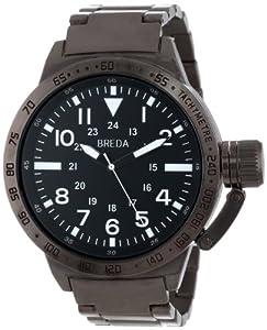 Breda Men's 1639-black Sean Screw-Cap Crown Oversized Metal Watch