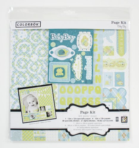 National Geographic Colorbok 12 By 12-Inch Baby Boy Page Kit front-765964