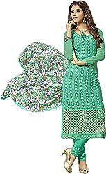 Zohra Vol 2 Women's Georgette Unstitched Dress Material(54010, Green)