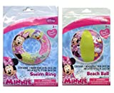 Disney Minnie Mouse Swim Ring & Beach Ball Set