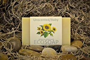 ECO-SOAP Organic Bar Soap Unscented/Sensitive 4.0 Oz (3 Pack)