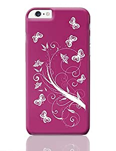 PosterGuy iPhone 6 Plus / iPhone 6S Plus Case Cover - Butterfly with flower | Designed by: Codeburnerz Technologies