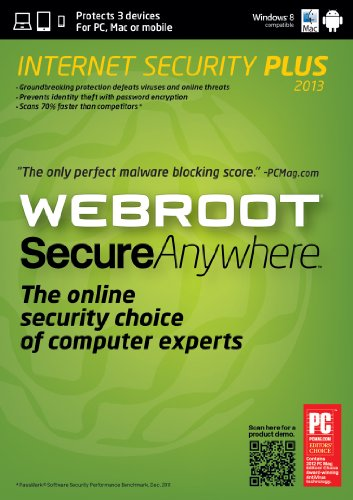 Webroot Secureanywhere Internet Security Plus 2013 - 3 Devices front-653640