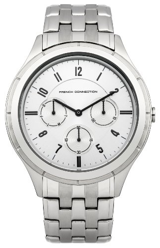 FRENCH CONNECTION FC1187SM - Reloj de pulsera hombre, acero inoxidable, color plateado