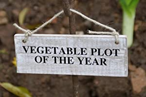 Wooden Garden Sign Vegetable Plot Of The Year