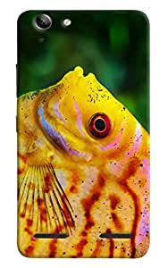 Omnam Yellow Jelly Fish Face Printed Designer Back Cover Case For Lenovo Vibe K5 Plus