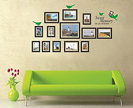 Generic DIY Black Sweet Memory Photo Frames Wall Stickers Vinyl Decals Home Decor
