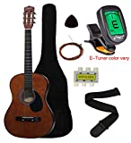 "Crescent MG38-CF 38"" Acoustic Guitar Starter Package, COFFEE (Includes CrescentTM Digital E-Tuner)"