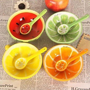 TTOMI belle conception de fruits bols en céramique pastèque, 13x13x4.2cm