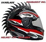 Black-Sawblade-Rubber-Peel-and-Stick-Helmet-Mohawk-Plus-Bonus-Shark-Fin-Motorcycles-Dirt-Bikes-Snow-Boarding-Skiing-Skate-Bmx-Kids-Helmets-Mohawks-Helmet-Not-Included