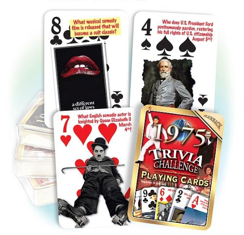 1975 Trivia Playing Cards: 41st Birthday Gift