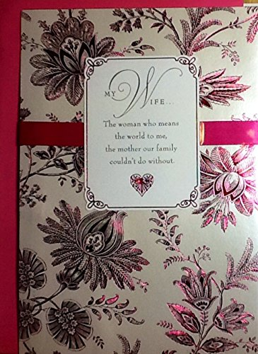 Classy & Unique Mothers Day Greeting Card Choices From Husband, For Wife (OO- Magenta Ribbon) (Soul Owner compare prices)
