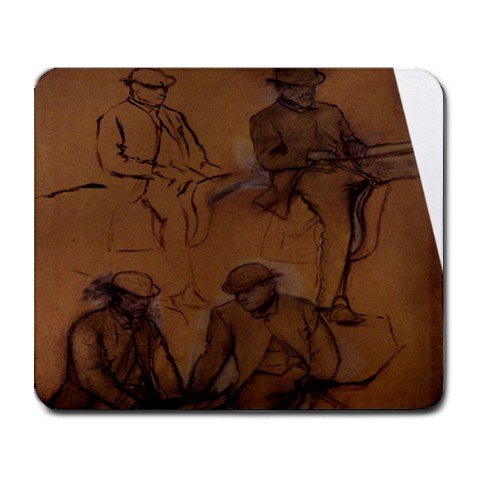 Four Riders By Edgar Degas Mouse Pad