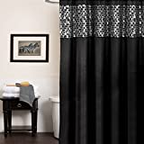 MOSAIC STONE BLACK 6X6 SHOWER CURTAIN